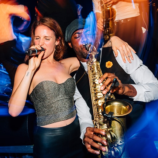 DJ plus Sängerin & Saxophon Geburtstag